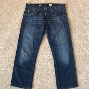 AG Tomboy Relaxed Straight Crop Jeans